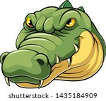 Mascot Head Of An Crocodile