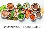 food sources of plant based... | Shutterstock . vector #1435186310