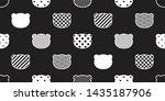 bear seamless pattern vector... | Shutterstock .eps vector #1435187906