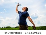 adult mam plays with water... | Shutterstock . vector #143519698