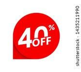 sale or discount label. 40... | Shutterstock . vector #1435211990