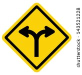 forked road sign | Shutterstock . vector #143521228