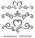 calligraphic floral elements | Shutterstock . vector #143521318