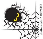 spider and cobweb | Shutterstock . vector #143521396