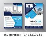 brochure design  cover modern...   Shutterstock .eps vector #1435217153