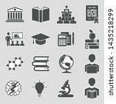university and college icons.... | Shutterstock .eps vector #1435218299