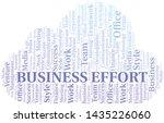 business effort word cloud.... | Shutterstock .eps vector #1435226060