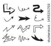 set of arrow doodle on white...   Shutterstock .eps vector #1435231703