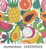 vector seamless pattern with... | Shutterstock .eps vector #1435245323