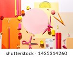 different school stationery and ... | Shutterstock . vector #1435314260