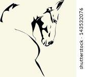Stock vector horse 143532076