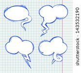 set of vector chat bubbles in... | Shutterstock .eps vector #143532190