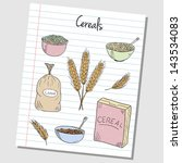 illustration of cereals colored ... | Shutterstock .eps vector #143534083