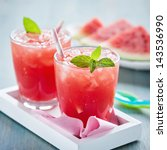 watermelon smoothies | Shutterstock . vector #143536990