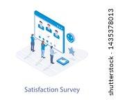 customer survey vector in...   Shutterstock .eps vector #1435378013
