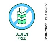 gluten free line icon. label...