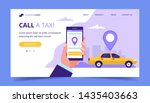 call a taxi landing page.... | Shutterstock . vector #1435403663