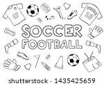 football soccer equipment... | Shutterstock .eps vector #1435425659