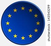 eu 3d round button | Shutterstock . vector #143543299