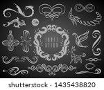 set of vintage decorations... | Shutterstock . vector #1435438820