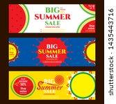 creative hot summer sale banner ...   Shutterstock .eps vector #1435443716