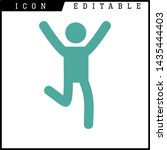 human runner icon isolated sign ... | Shutterstock .eps vector #1435444403