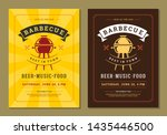 barbecue party vector flyer or... | Shutterstock .eps vector #1435446500