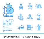 lineo blue   camping and... | Shutterstock .eps vector #1435455029