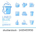 lineo blue   cleaning and... | Shutterstock .eps vector #1435455950