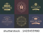 wedding invitations save the... | Shutterstock .eps vector #1435455980