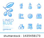 lineo blue   coffee line icons | Shutterstock .eps vector #1435458173