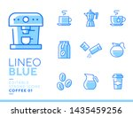 lineo blue   coffee line icons | Shutterstock .eps vector #1435459256