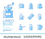 lineo blue   coffee line icons | Shutterstock .eps vector #1435459490