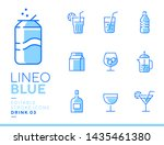 lineo blue   drink and alcohol...   Shutterstock .eps vector #1435461380