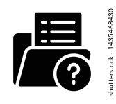 faq folder glyph flat vector...   Shutterstock .eps vector #1435468430