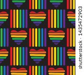 seamless pattern with gay... | Shutterstock .eps vector #1435472903