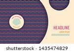 simple style wavy pattern... | Shutterstock .eps vector #1435474829