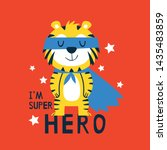 hero tiger drawn as vector for... | Shutterstock .eps vector #1435483859
