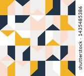 seamless vector geometric... | Shutterstock .eps vector #1435485386