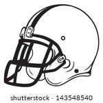 Helmet Football Isolated On...