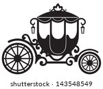 vintage carriage isolated on... | Shutterstock .eps vector #143548549