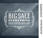 window advertising decals... | Shutterstock .eps vector #143548990