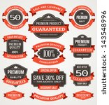 vector vintage sale labels and... | Shutterstock .eps vector #143548996