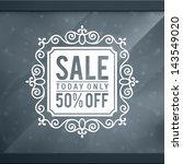 window advertising decals... | Shutterstock .eps vector #143549020