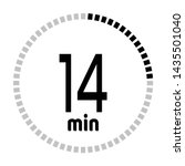 the 14 minutes countdown timer...