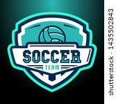 soccer logo  american logo... | Shutterstock .eps vector #1435502843