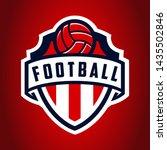 soccer logo  american logo... | Shutterstock .eps vector #1435502846
