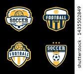 modern vector soccer logo set.... | Shutterstock .eps vector #1435502849