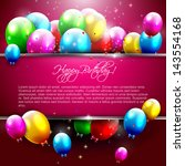 luxury birthday background with ... | Shutterstock .eps vector #143554168