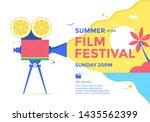 summer film festival poster... | Shutterstock .eps vector #1435562399